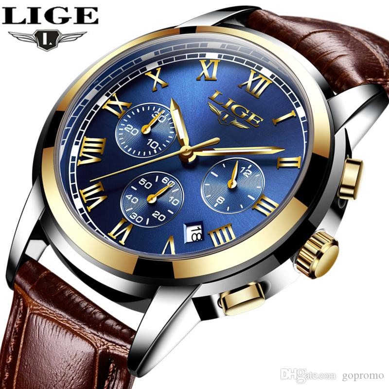 Hombres Relogio Business Brand Lige Luxury Pulsera Relojes Masculino Steel Top Para Waterproof Fashion Cuarzo De Sport Full Reloj ZiuOkPX