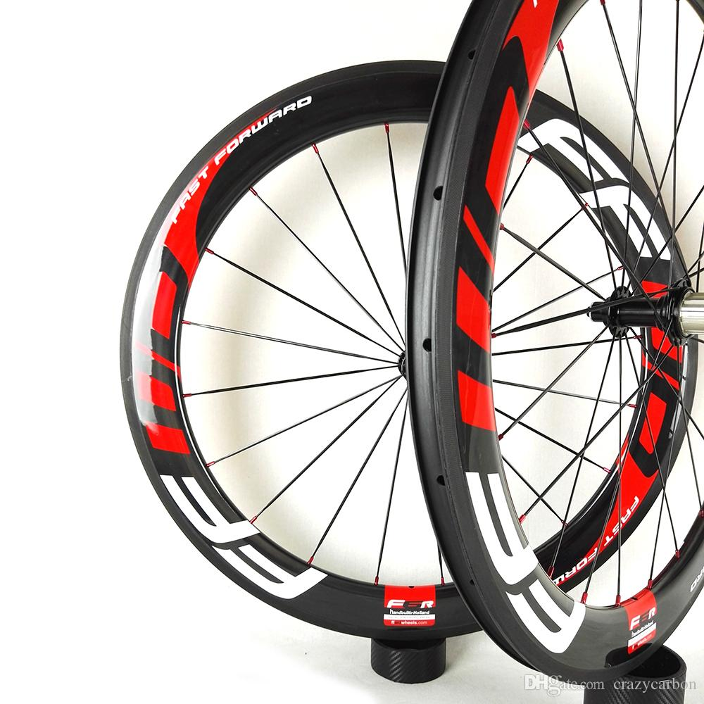 Ücretsiz Kargo !! FFWW 60 MM U Şekli Tam Karbon Fiber Jantlar Kattığı / Tübüler Yol Bisikleti Karbon Tekerlek 700C Yol Bisikle ...