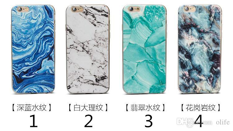 New 12 Style Ultra-Thin Granite Marble Rock Soft TPU Case Stone Pattern Coloured drawing Back Cover for iphone X 8 7 plus 6 6S plus