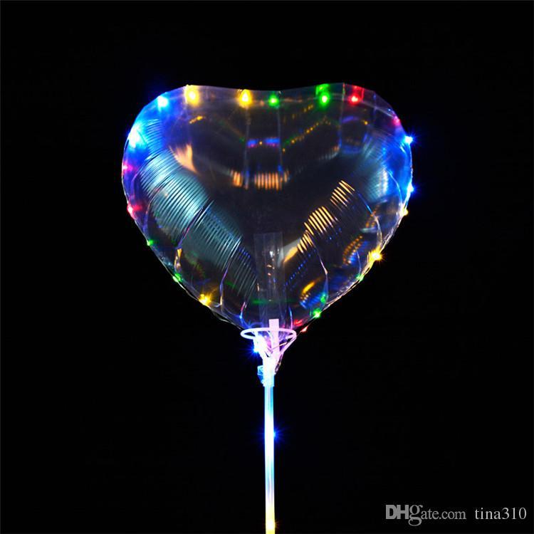 Светодиодные Надувные Шары Шары для Выражения Пользы Латексная Вечеринка Воздушный Шар Новогоднее украшение Орнамент Романтический Легкий шар T1I200