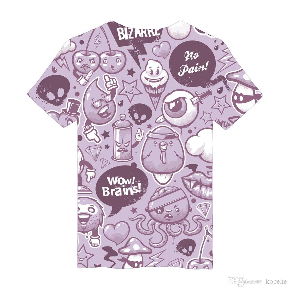 3d Design Graffiti Printing Tshirt Fan Women Short T Shirt Men