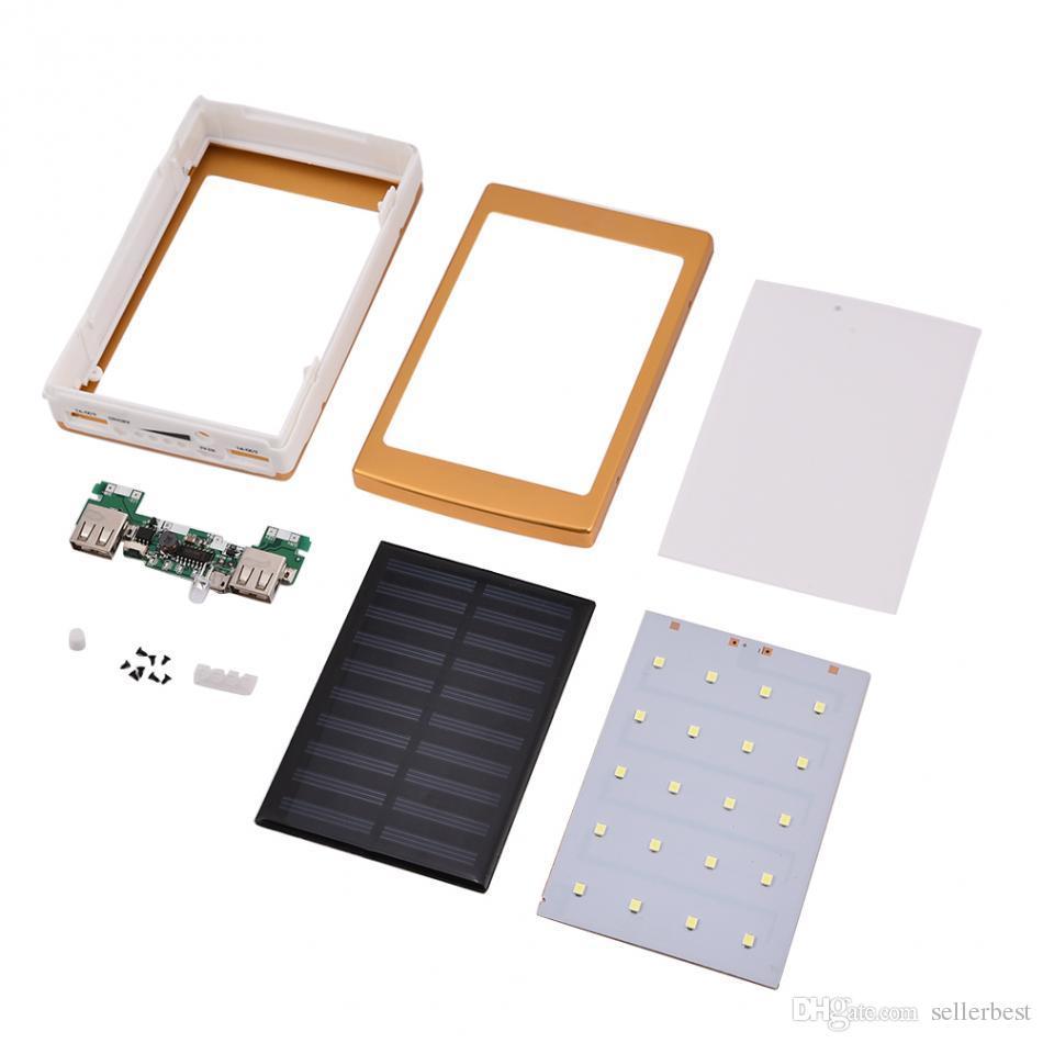 20000mAh Portable Power Bank Bank Kit DIY Double chargeur de batterie USB avec lampe de poche