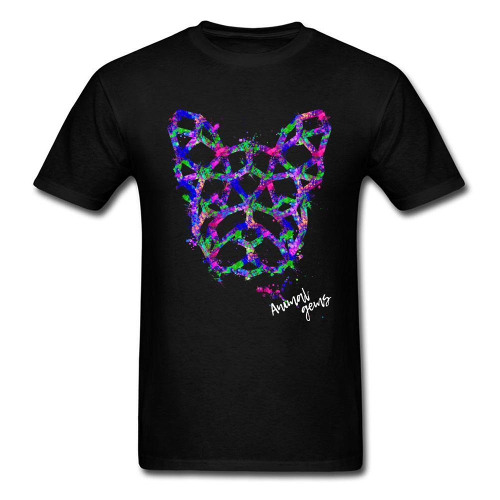 Blue Frenchie Splash Tshirt Men Graffiti Art T Shirts Casual T Shirt Cute Animal T Shirts Hip Hop Mens Fashion T Shirt 2018 Cool T Shirts Buy Online Raid