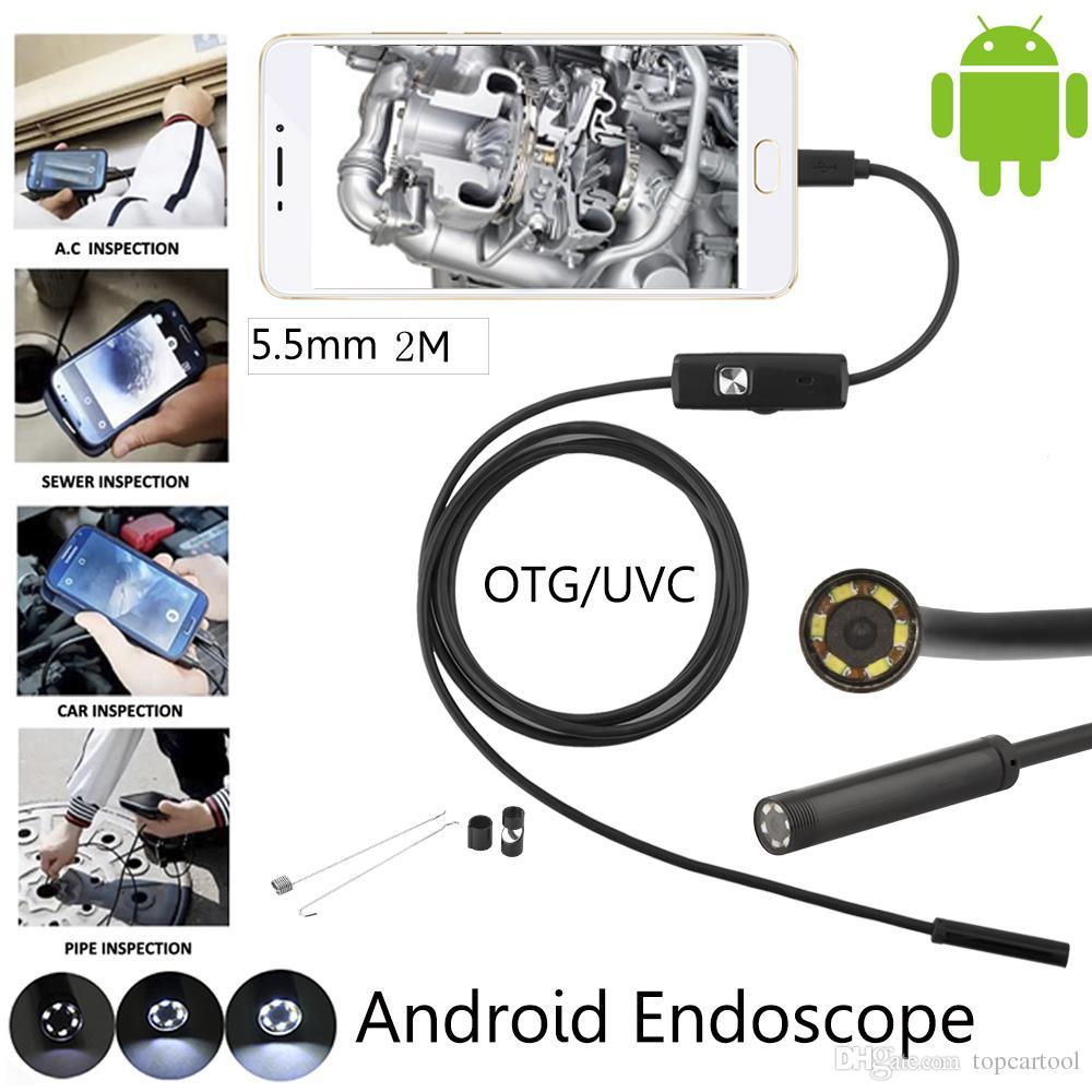 5,5 mm Objektiv Mini USB Android Endoskop Kamera Wasserdichte Schlange Rohr Android USB Kamera 2 Mt