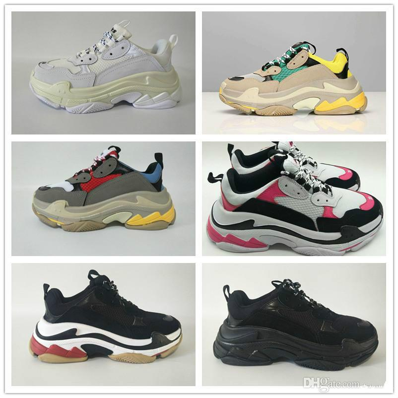 5331c56053f7 Fashion Paris 17FW Triple-S Sneaker Triple S Casual Luxury Dad Shoes ...