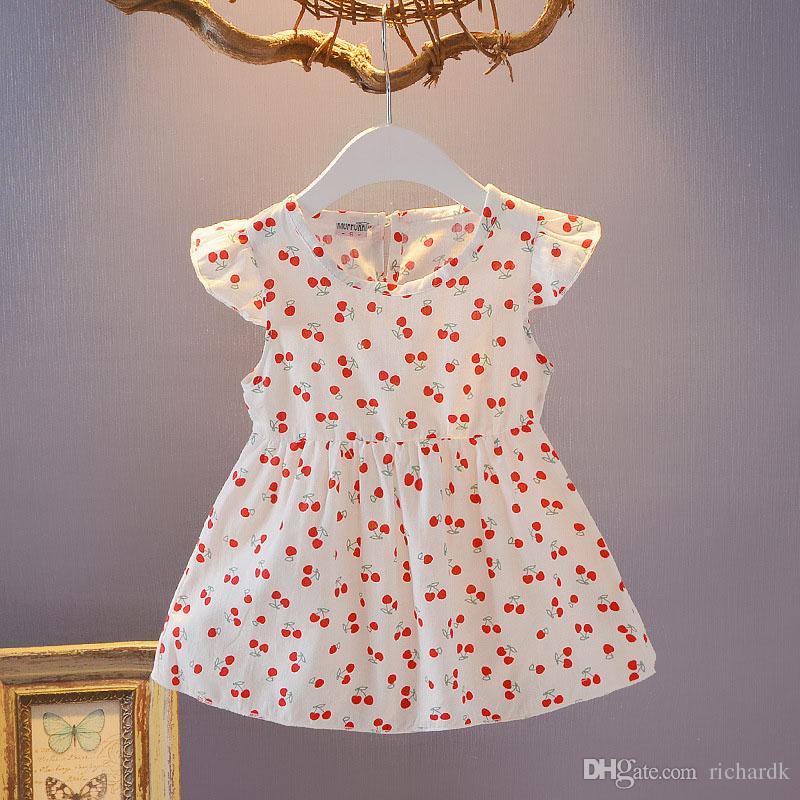 24b5f7c38fcd 2019 Girls Fruits Dress 2018 New Summer Girls Clothes Princess Dresses  Children Summer Clothes Baby Girls Dress From Richardk, $11.66 | DHgate.Com