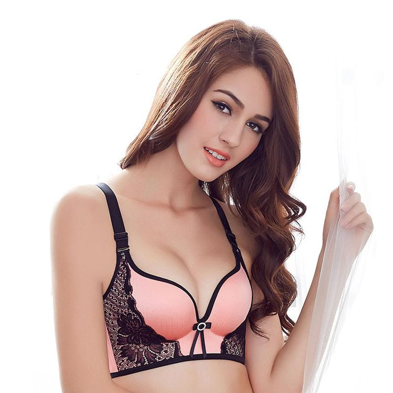 d3e6a0a2149 2019 Women Push Up Bra Lace Bralette Adjusted Comfortable Wireless Bra  Underwear Women Sexy Lingerie Plus Size C D Cup From Clothingdh