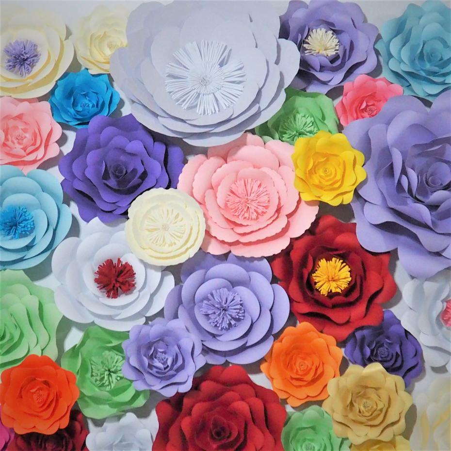 Of 33 Giant Paper Flowers For Wedding Event Party Backdrops