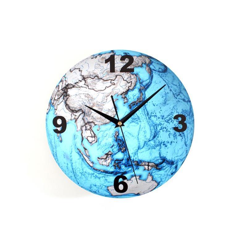 Stille Wanduhr Cool 3d Erde Geformte Uhr Wand Dekoration Geschenk