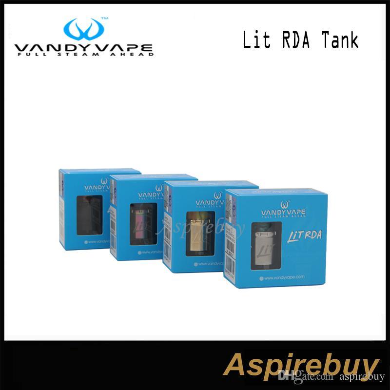 VandyVape Lit RDA Tank Vida Yapı Bobinler Kafa% 100 Orijinal 3 Yolları Hava akımı Tipi Slide Hava akımı Sistemi Çok fonksiyonlu tabanını Değiştirme