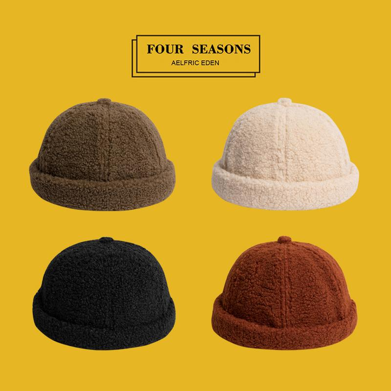 fe75a6ba19d Aelfric Eden Wool Solid Color Skullies Beanies Fashion Men s Hats ...