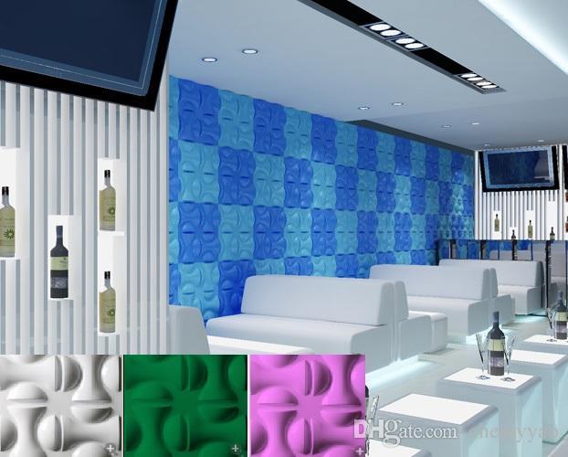 Castle home ktv hotel cafe shop decoration style Waterproof fist Shape Designed Light-weight 3D PVC Wall/Ceilling Panels