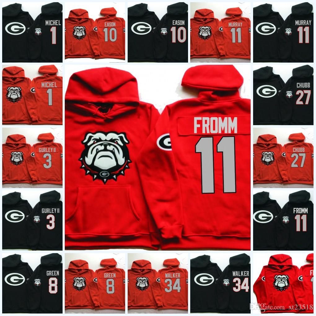 18ef12a6b 2019 Mens NCAA Georgia Bulldogs Jake Fromm Hoodie Nick Chubb Herchel Walker  Sony Michel DAndre Swift Todd Gurley II A. J. Green Bulldogs Hoodie From  Xt23518 ...
