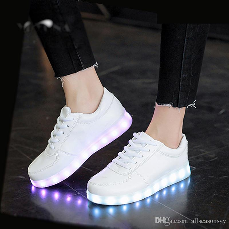 USB Charging LED Light Up Shoes LED Slippers Boy Girl Luminous Sneakers  Glowing Sports Dancing Sneakers Women Youth Boots On Sale Flats For  Toddlers From ... 262a3de3a1