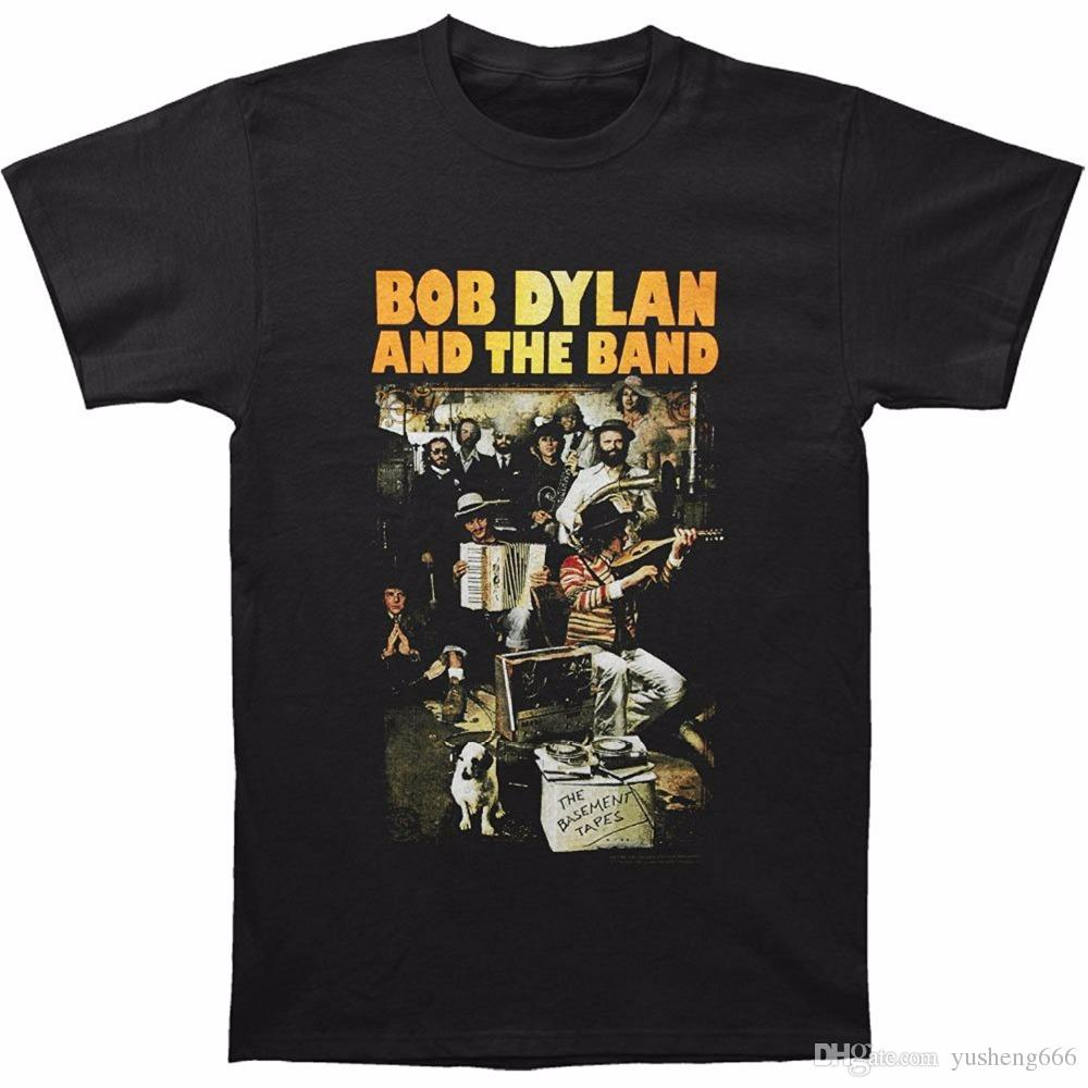 Custom T Shirts Cheap Graphic Men Crew Neck Short Sleeve Bob Dylan