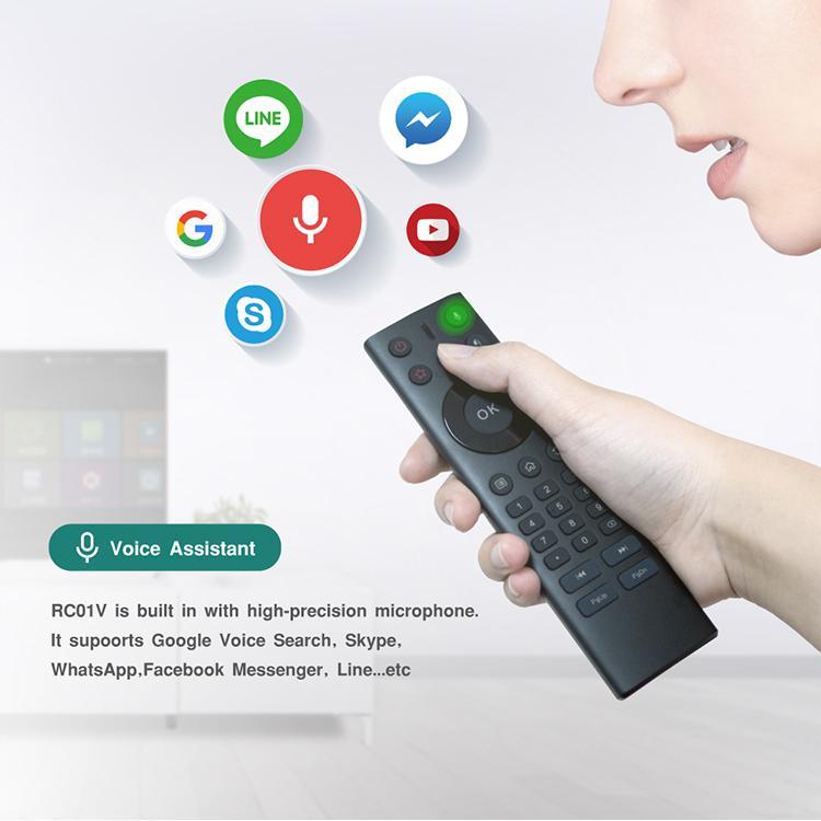 2018 Nuovo Design 2 4G Google Assistant Voice Air mouse Qualità a distanza  durevole per Smart TV / IPTV / Mini PC / Android Set-Top Box / HTPC
