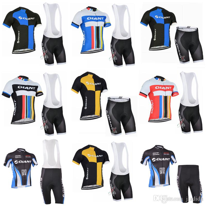 GIANTteam Cycling Short Sleeves Jersey Bib Shorts Sets 4 Styles To Choose  From Clothing Mountain Bike Wear Outdoor Sportswear C2822 Beer Cycling  Jerseys ... 0332c5f94