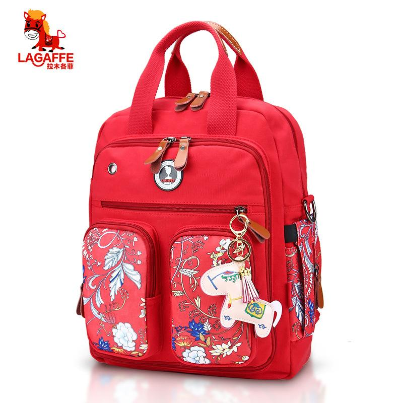 3Colors Fashion Diaper Bag Multi-function Print Maternity Nappy Bag  Baby Travel Backpack Nursing