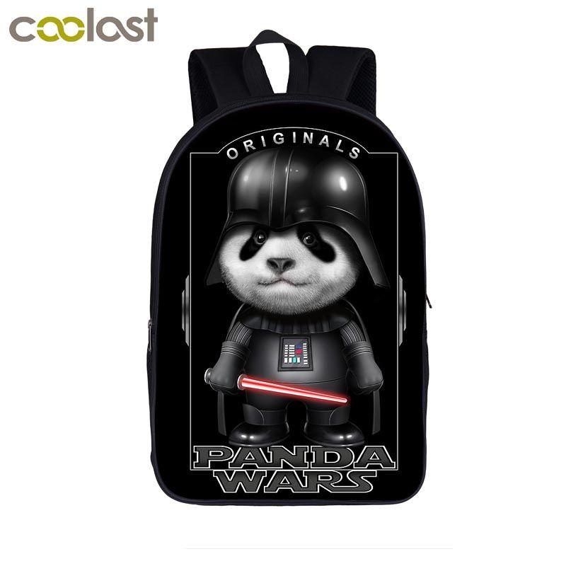 450773cd0ca4 Panda War   Darth Vader Print Backpack For Teenager Boys Girls Children  School Bags Laptop Backpack Women Men Travel Bag Bookbag Tactical Backpack  Ogio .