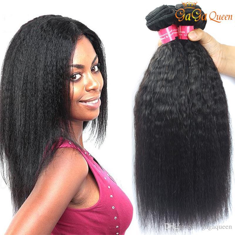 8a Brazilian Kinky Straight Hair Bundles Unprocessed Peruvian