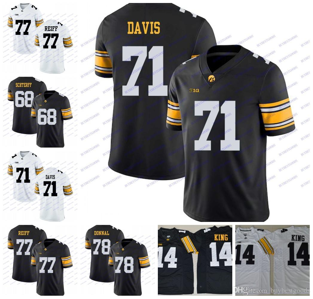 606d15b65 2019 Custom Iowa Hawkeyes 68 Brandon Scherff 71 Carl Davis 77 Riley Reiff  78 Andrew Donnal White Black NCAA College Football Jerseys From  Buybestgoods