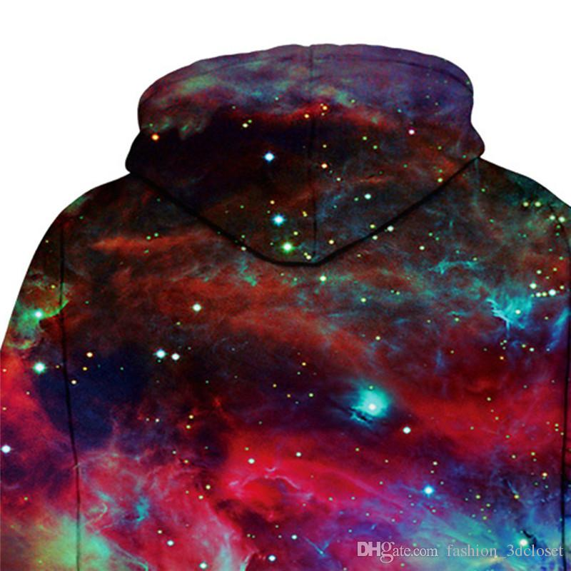 Galaxy Graffiti 3D Hoodie Sweatshirt Men Plus Size Hip Hop Pullover With Cap Tracksuit Colorful Space Hooded Streetwear For boy