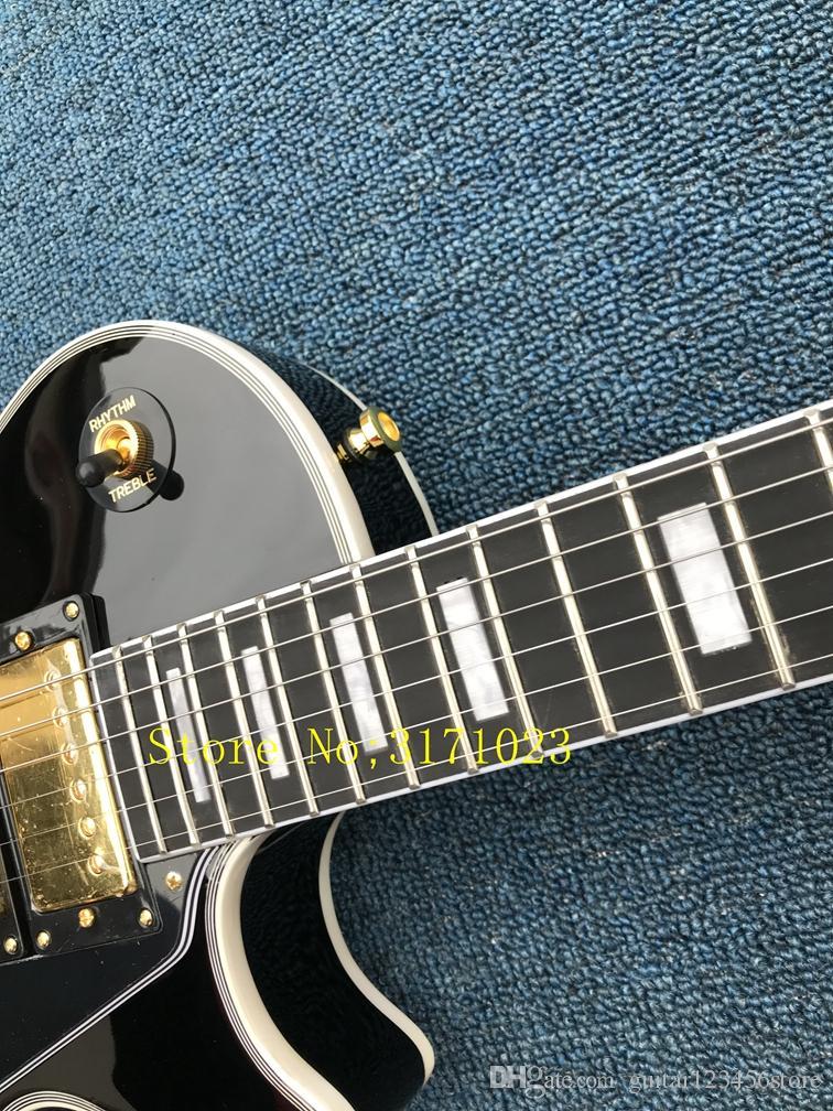 Venta al por mayor Custom Black Beauty 3 Pickups Guitarra eléctrica traste Bingding instrumentos musicales más vendidos