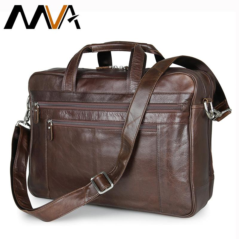 f62d3a21a8 MVA Genuine Leather Men Bag Shoulder Crossbody Bags Business Men ...
