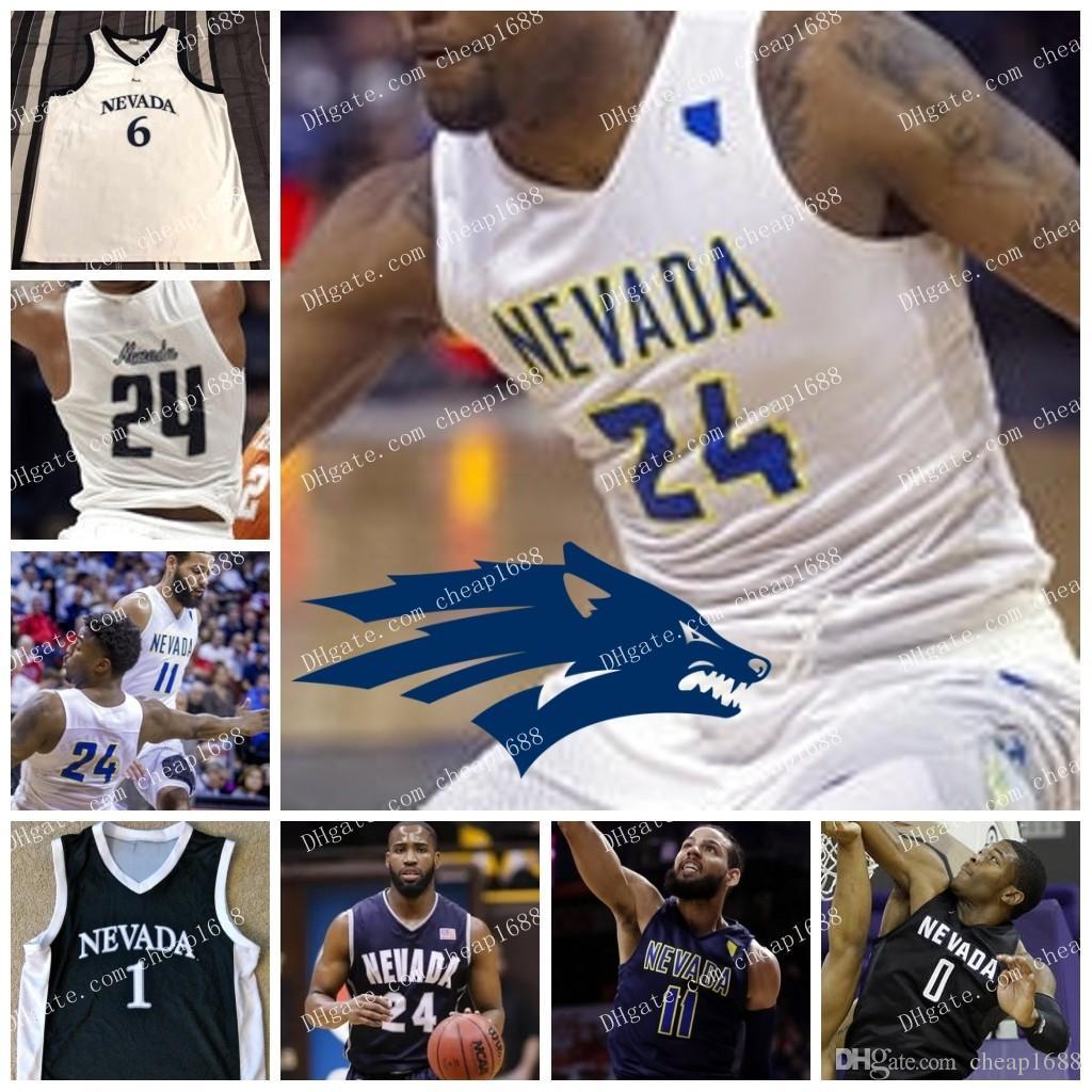 brand new 532c9 d5882 NCAA Nevada Wolf Pack #12 JoJo Anderson 21 Brown 24 Caroline 20 David  Cunningham 14 Lindsey Drew 1 Jalen Harris College Basketball Jerseys