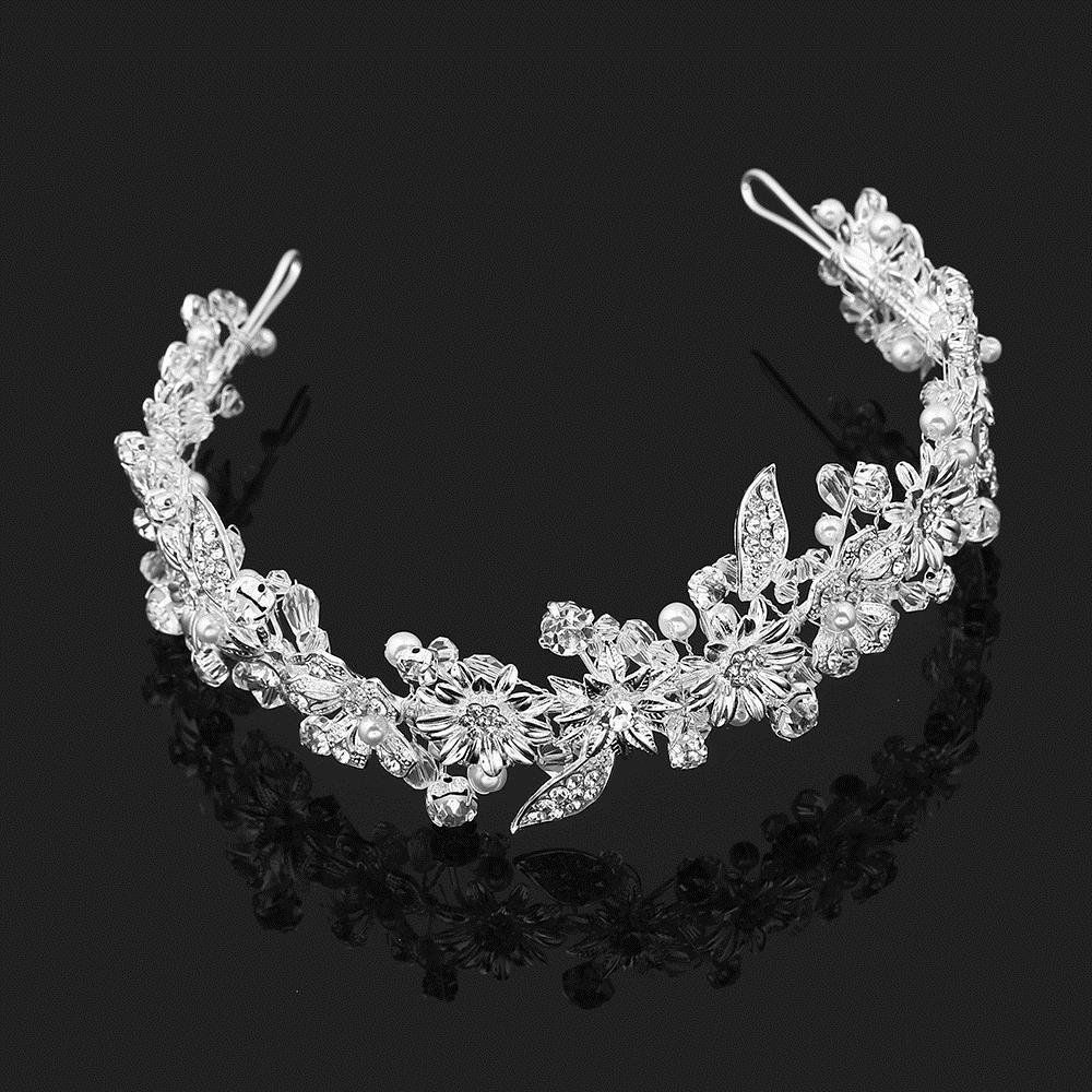 Magnificent Rhinestone DIY Silver Bridal Tiara Crown Bride Prom King Crown Head Decoration Wedding Hair Jewelry Accessories X912