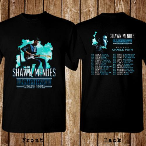 7be040cb World Tour 2017 Shawn Mendes Illuminate Balck T Shirt Unisex New High  Quality Top Tee Print T Shirt Summer Style That T Shirt But T Shirts From  ...