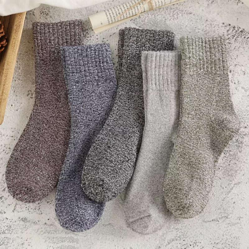fda1571251303 2019 New Fashion Men Wool Socks Winter Warm Thick Woolen Thermal Male  Casual Sleepwear Crew Socks For Mens Solid Color Coffee Grey From Felix06,  ...