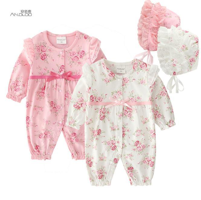 f64f5eb40 Newborn Baby Girl Kids Clothes 0-3 Months Formal Rompers Autumn ...
