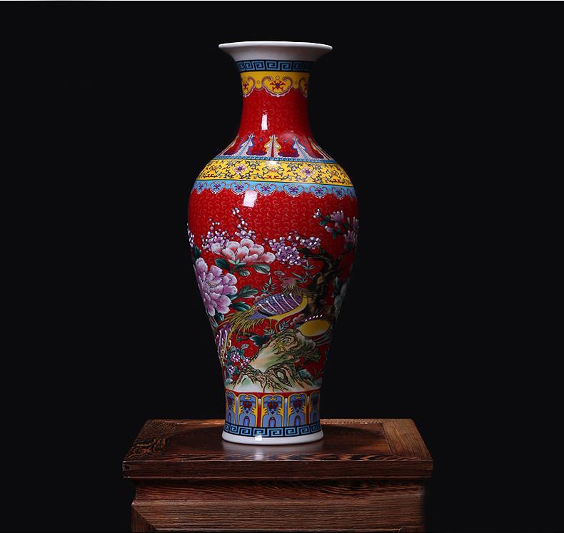 Wedding Decoration Chinese Big Antique Enameled Porcelain Ceramic
