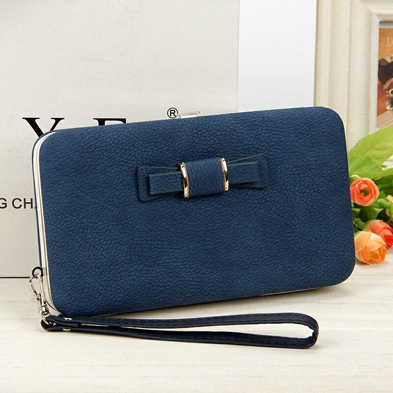 cfecda852a1e RTS 10 colors Women Bowknot Wallet Long Purse Phone Card Holder Clutch  Large Capacity Pocket