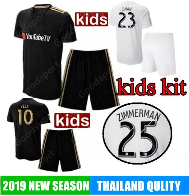 d11995fee 2019 2019 Kids Kit LAFC Carlos Vela Soccer Jerseys 2018 Home GABER ROSSI  CIMAN ZIMMERMAN Away Football ShirtS Los Angeles CALCIO Ss From  Goodbuysports