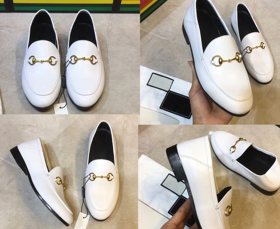 Nueva mulas Princetown mujeres de los hombres de piel Zapatillas mulas Pisos cuero genuino del diseñador de moda de metal señoras de la cadena zapatos ocasionales US 5-12