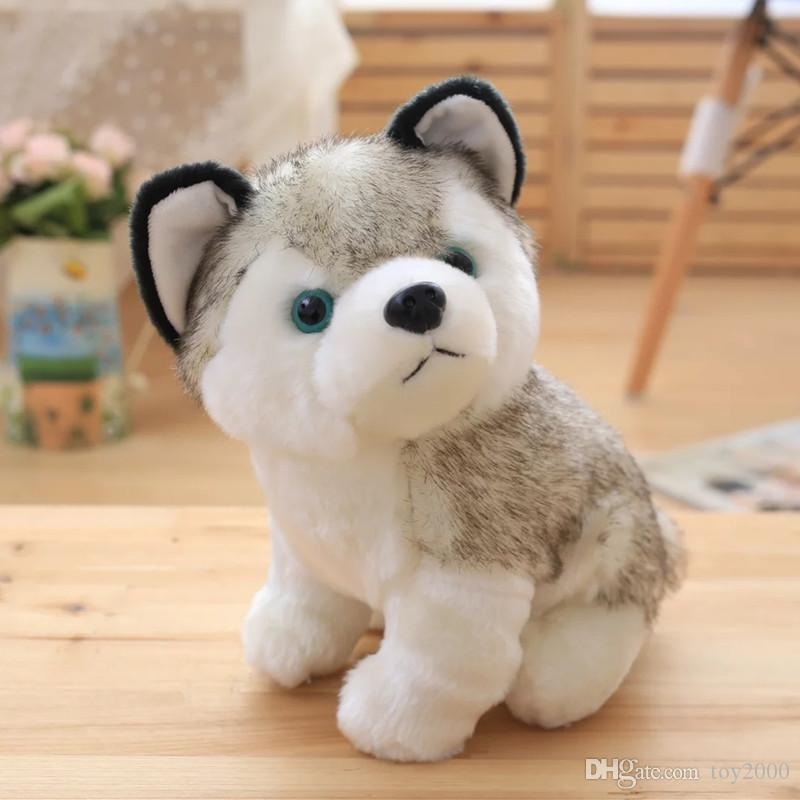 2019 Husky Dog Plush Toys Small Stuffed Animals Doll Toys 18cm Gift