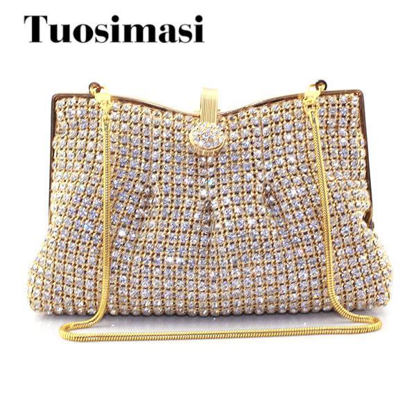 Bag Women Handbag Bling Ladies Clutches Golden