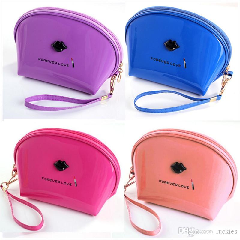 c4be4b4c5203 Half Moon Cosmetic Beauty Bag Small Portable Cosmetic Bag Women Girls Handy  Cosmetic Pouch Travel Handy Organizer Pouch 0340