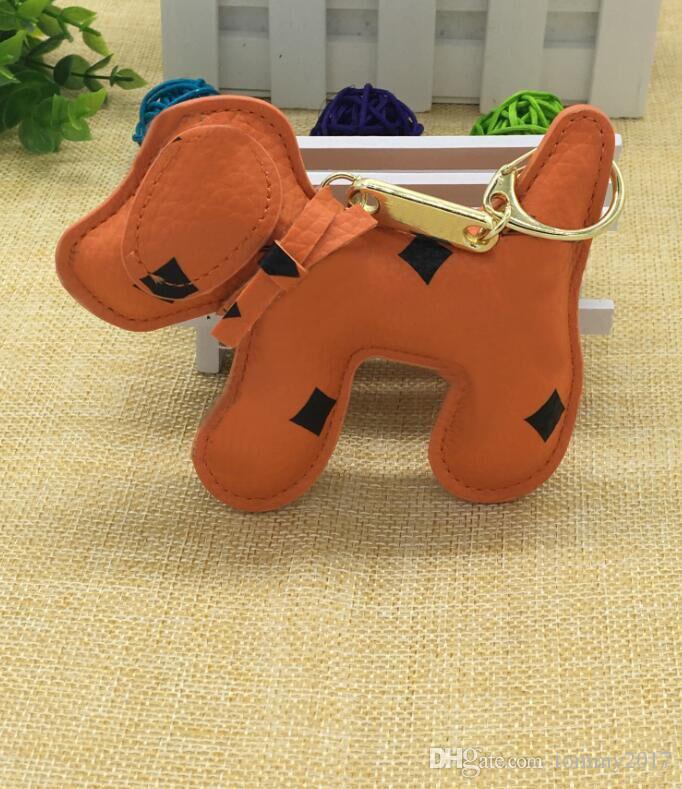 New Charms Portachiavi Moda zaino catena pendente creativo Unisex Pu animale cane zaino portachiavi regalo