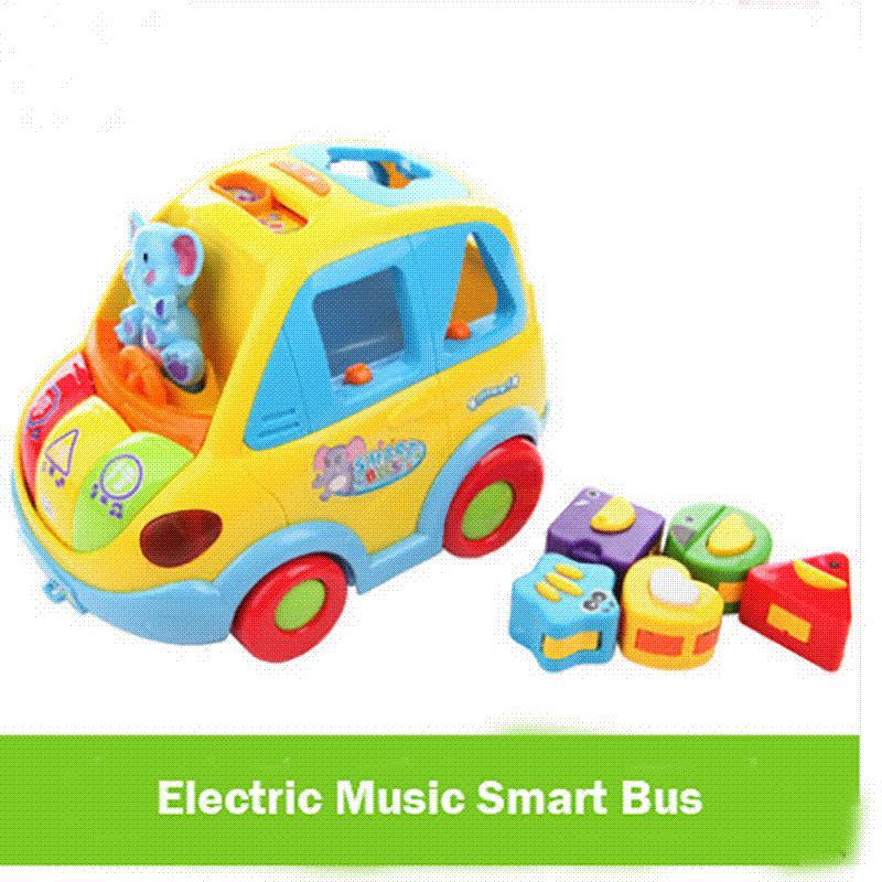 Intelligent Électrique Jouets Universelle Éducatifs Forme Transport Mois Bébé 12 Cognitive Autobus Voiture Musique EQdroBWxeC