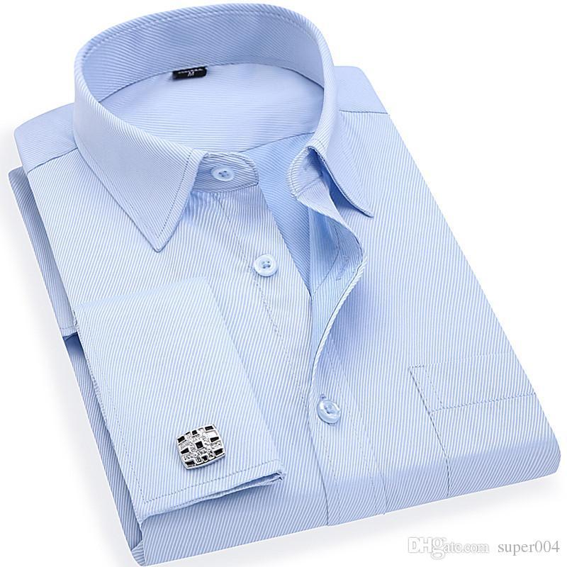 De Super004 L XL M 3XL 4XL Sarga Manga 12 Azul Francesas DHgate Camisas  Tallas Hombres ... 107f2aa63afc