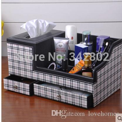 Fournitures de bureau scolaire Accessoires de bureau Organisateur Porte-stylo Leathechoisir Matériau noir et marron 9 couleurs