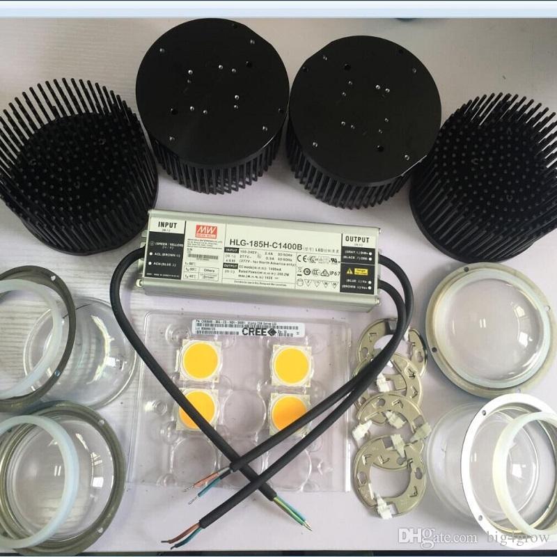 Diy Cree Cxb3590 Cob Led Grow Light Lenses Kit 3500k With