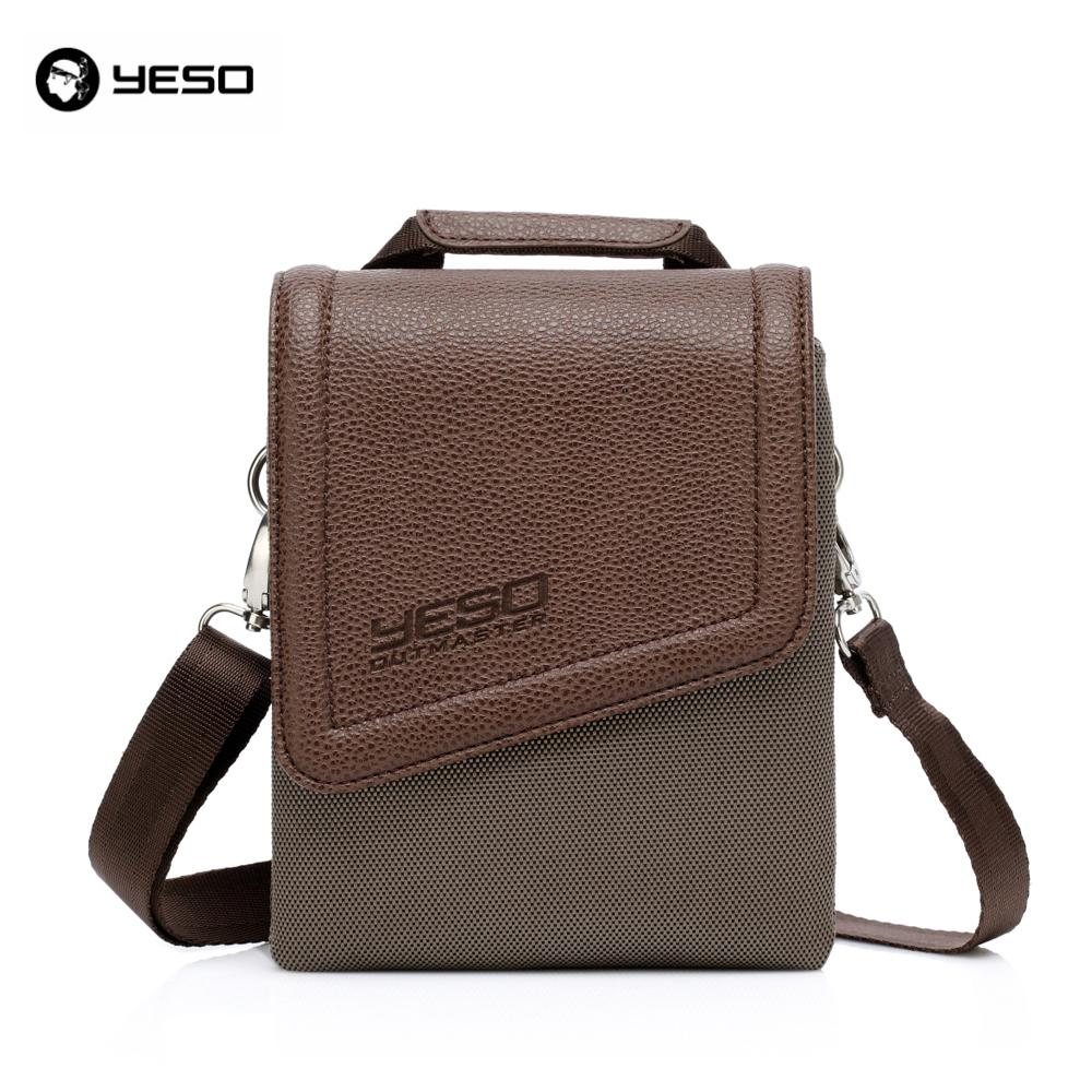 9ae7400faf YESO Brand Waterproof Nylon And PU Leather Vintage Men And Women ...