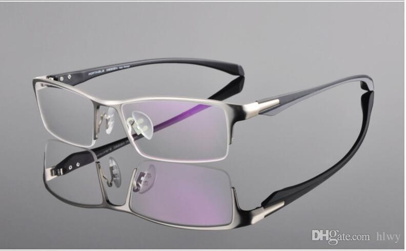 791959b183 New High-end Brand Business Half Frame Glasses Frame Men s Myopia ...