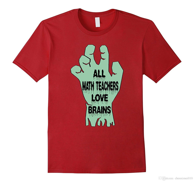all math teachers love brains funny halloween t shirt t shirts shirt from chenximei010 1207 dhgatecom