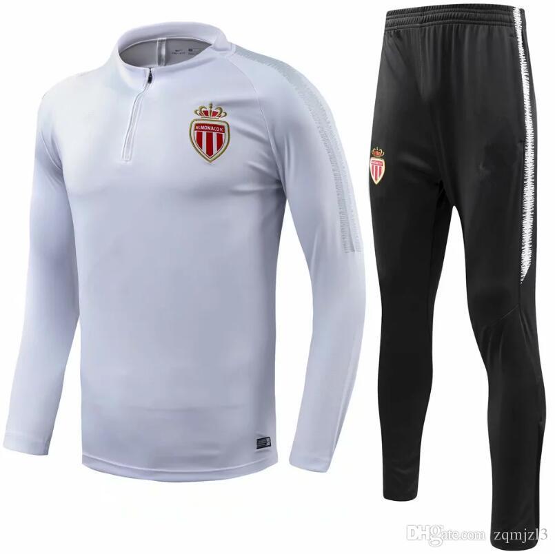 Compre Traje De Entrenamiento De Alta Calidad 2018 Monaco Soccer ... e15aac85e553a