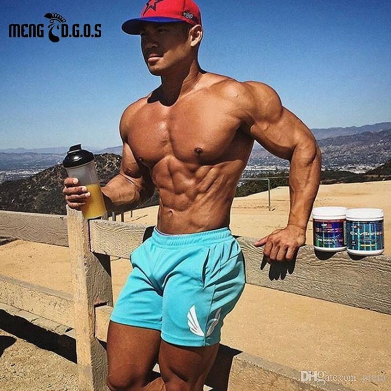 392e03ddcadebc 2019 2017 Fitness Men Summer Fashion Gyms Short Casual Bodybuilding Cotton  Short Pants Wear Workout Clothes M XXL From Raoken